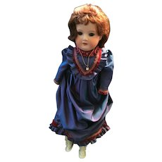 """Turn of the Century 18"""" Armand Marseille 370 German bisque fashion doll"""
