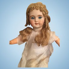 "Gorgeous 1912 26"" Simon Halbig Blond Beauty German Bisque Doll"