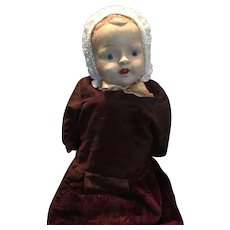 Circa 1912 to 1920 Large Unmarked Composition Doll