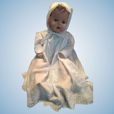 "Circa 1924 to 1930 Unmarked 24"" Tall Mama Doll"