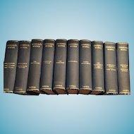 1893 Christmas Gift - Ten Lovely Volumes of Thackery's Works