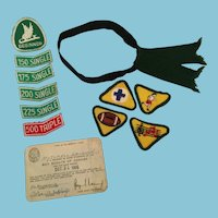 1966 Boy Scout Of Canada Membership, Badgets, and Arm Band