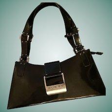 Vintage GUESS  Black Patent Shoulder Handbag