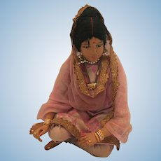 Poseable Bharatanatyam Unfired Clay Dancing Doll