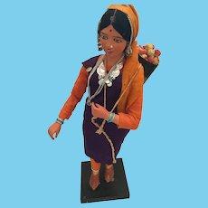Poseable Unfired Clay Krishnanagar Peasant Doll