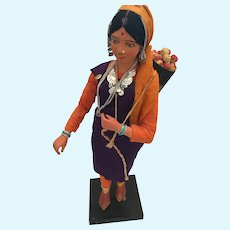 Poseable Unfired Clay Krishnanagar Peasant Doll