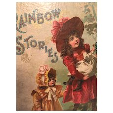 'Rainbow Stories' 1900 Hardcover Book Part of the Jolly Santa Series