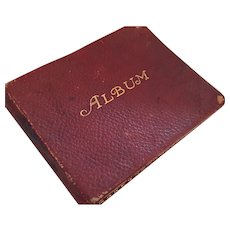 Circa 1915 Maroon Colored Autograph, Scrapbook and Painting Album