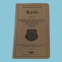1914 International and Local  Laws Governing Metal Polishers