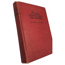 1907 'Peck's Bad Boy with the Cowboys' Hardcover Book