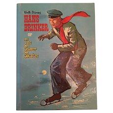 1961 Walt Disney 'Hans Brinker or The Silver Skates' Children's Hard Covered Book