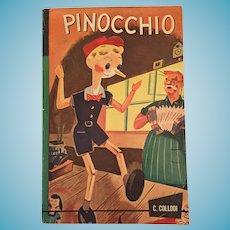 1939 Books Inc 'Giant Junior Classics 'Pinocchio' Children's Soft Covered Book