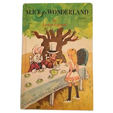 1970 Whitman Western Classics 'Alice in Wonderland' Children's Hard Covered Book