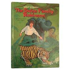 Whitman, Walt Disney 'The Swiss Family Robinson' Hard Covered Book (from Johann Wyss's Famous Classic)