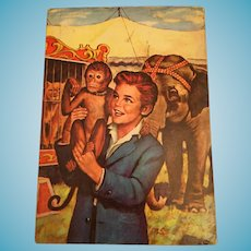 1938 'Toby Tyler or Twelve Weeks with the Circus' Children's Soft Covered Book