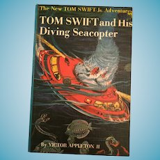 1956 'Tom Swift and His Diving Seacopter' Children's Hard Covered Book