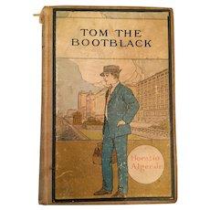 1878 Horatio Alger Jr. 'Tom the Bootblack' Boys' Hardcover Book