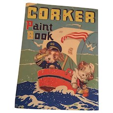 1944-1946 Unused 'Corker Paint Book' is published by Whitman Publishing Company