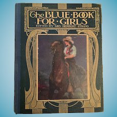 1920s 'The Blue Book for Girls' Hard Cover Book