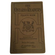 1909 'The Ontario Readers - Fourth Reader
