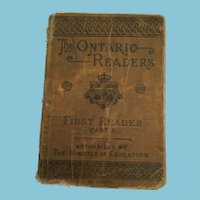1885 'The Ontario Readers: First Reader Part II' Soft Cover Book