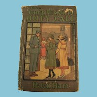 1920s 'The Campfire Girls' Duty Call' Hard Cover Book