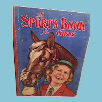 1937 Sports Hard Cover Book for Girls