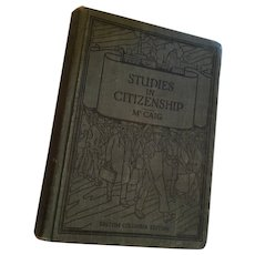 1929 illustrated 'Studies in Citizenship' by James McCaig