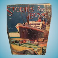 1920s Hard Cover 'Stories for Boys'