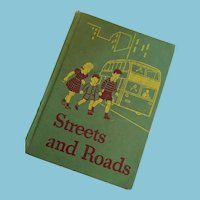 1940s illustrated 'Streets and Roads' Hardcover Reader