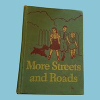1940s illustrated 'More Streets and Roads' Hardcover Reader