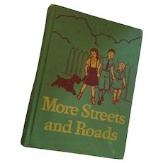 1940s illustrated 'More Streets and Roads' Hardcover Reader (2)