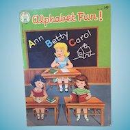Vintage 1940s 'Alphabet Fun!' Coloring Book