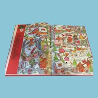 1990 'The Search for Santa' Hard-covered Picture Storybook