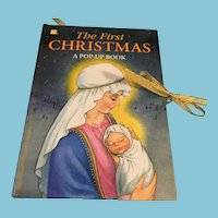 1993 Hardcover 'The First Christmas Pop-Up Book'