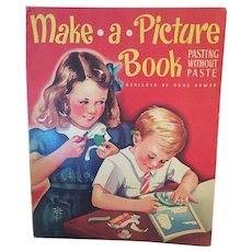 Vintage 1943 'Make-a-Picture-Book!' Story Book designed by Duke Downs