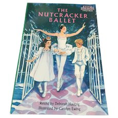 """1986 'The Story of the Nutcracker Ballet' 8"""" x 8"""" Hardcover Book"""