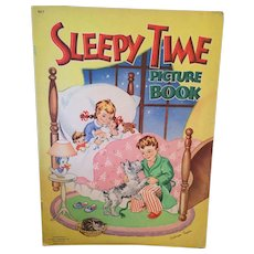 Vintage 1946 'Sleepy Time Picture Book' with Illustrations by Cathryn Taylor