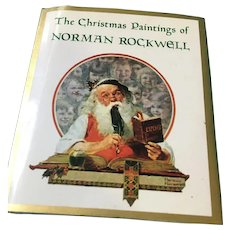 1993 'The Christmas Paintings of Norman Rockwell' Hardcover Mini Book,