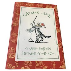 1993 'Catmas Carols' Hard Cover Book by Laurie Laughlin