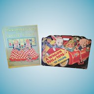Two Vintage 1941 and 1936 Children's Folders