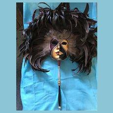 Artist Signed 'Il Paese dei Balorchi, Modello Esclusivo' Venetian Carnevale Mask