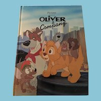 1990 Walt Disney 'Oliver & Company' Gallery Edition Hardcover Book