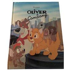 1990 Walt Disney 'Oliver & Company' Gallery Edition Hardcover Book