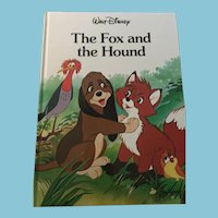 1988 Walt Disney 'The Fox and the Hound' Hardcover Book
