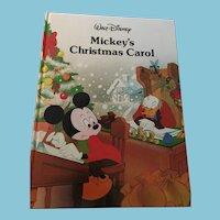 1988 Walt Disney 'Mickey's Christmas Carol' Hardcover Book