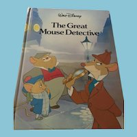 Twin Books Walt Disney 'The Great Mouse Detective' Hardcover Book (1992)