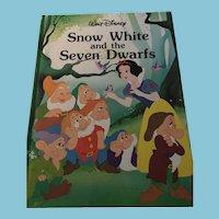 1986 Walt Disney 'Snow White and the Seven Dwarfs' Hardcover Book