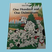 1989 Walt Disney 'One Hundred and One Dalmations' Hardcover Book
