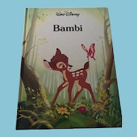 1989 Walt Disney 'Bambi ' Hardcover Book